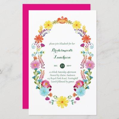 BUDGET Bridesmaids Luncheon Brunch FIESTA invite