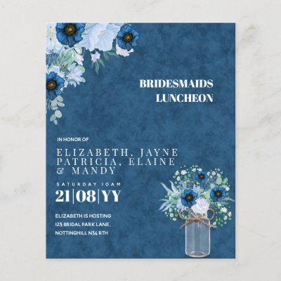 BUDGET Bridesmaids Luncheon Brunch Lunch Floral