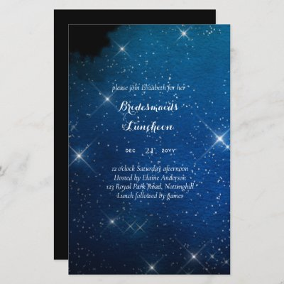 BUDGET Bridesmaids Luncheon Starry Night Blue