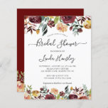 """Budget Burgundy Floral Bridal Shower Invitations<br><div class=""""desc"""">Please note that envelopes are NOT included with this design. If you need envelopes,  please check our collection or purchase them separately from the marketplace. https://www.zazzle.com/c/envelopes</div>"""