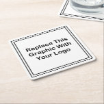 "Budget Business Logo Coasters<br><div class=""desc"">Replace the graphic logo template with your own on these budget drink and beverage coasters for business promotion,  restaurants,  or social events.  Promoted your company,  cause,  or services by making your own drink coasters.</div>"