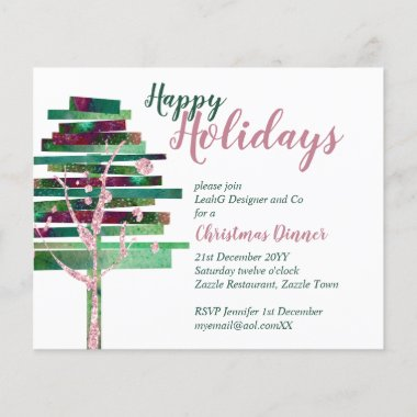 Budget Christmas Rose Gold Invites, Letter