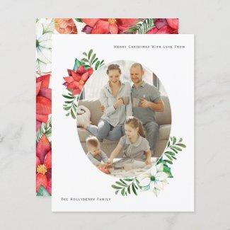 BUDGET Christmas Winter Poinsettia Flower Frame