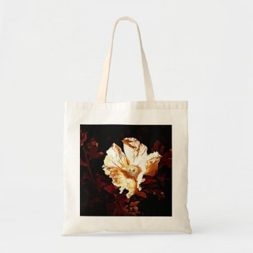 Beach Themed budget copper & cream poppy tote