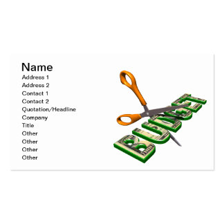 Budget Cuts Double-Sided Standard Business Cards (Pack Of 100)