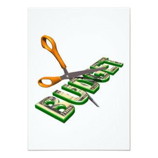 """Budget Cuts 5"""" X 7"""" Invitation Card"""