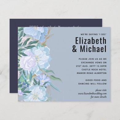 Budget DUSTY BLUE Foliage Wedding