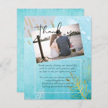 BUDGET DustyTeal Gold Abstract Wedding