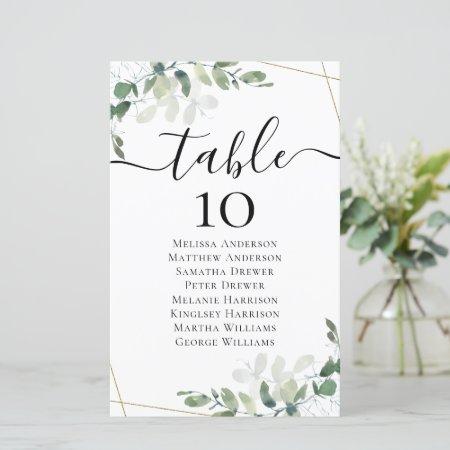 BUDGET Eucalyptus Wedding Table Seating Chart