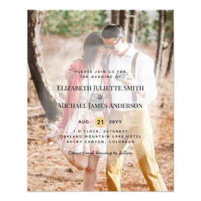 Budget Flyer Paper Photo Wedding