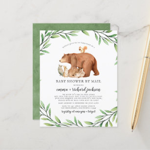 Budget Greenery Forest Animals Baby Shower By Mail