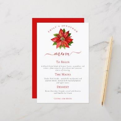 Budget Holiday Wedding Red Poinsettia Menu