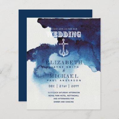 BUDGET Nautical Sailing Destination Wedding Invite