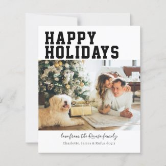 Budget Personalized Photo and Text Christmas Card