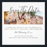 "Budget PHOTO Collage Save The Dates Wedding<br><div class=""desc"">NOTE: This is PHOTO PAPER 4x4inch small hence the great low value budget price. It doesn't include envelopes. if you'd like a more traditional invitation card/paper/size you can transfer it using Zazzle's transfer design options.</div>"