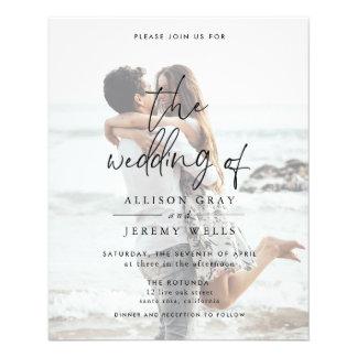 Budget Photo Wedding Invitation Flyer