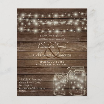 Budget Rustic Lights Mason Jars Cheapest Wedding