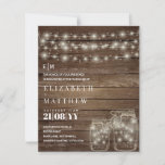 "Budget Rustic Lights Mason Jars Wedding Invites<br><div class=""desc"">Congratulations on your engagement, we hope you have a wonderful day and future life together filled with happiness and joy. This modern elegant wedding stationery item is part of a larger collection as designed by LeahG on behalf of the Low Budget Wedding Network® Please view the attached collection and 'additional...</div>"