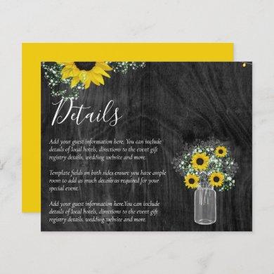 BUDGET Rustic Sunflower Wedding Details Enclosure