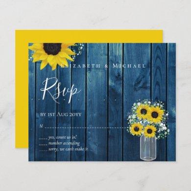 BUDGET Rustic Sunflowers RSVP Wedding