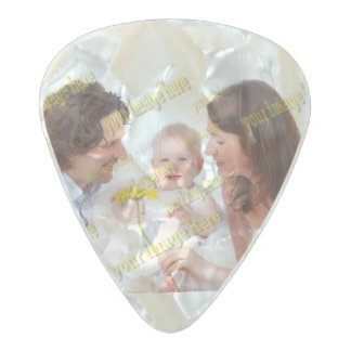 Budget Special Family Photo Template Pearl Celluloid Guitar Pick