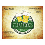 Budget St Patrick's Day Party Irish Brew Vintage Flyer