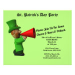 Budget St Patrick's Day Party Potluck Invitation Flyer