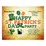 Budget St Patrick's Day Party Vintage Flyer