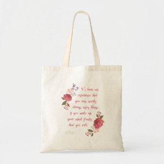 Budget Tote Bag with Anne Quote