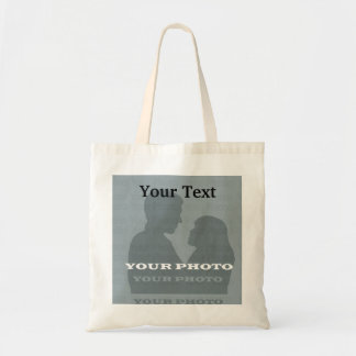 Budget Tote Bag Your Photo & Text Template