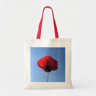 Budget Tote - Red Poppy Blue Sky Bag