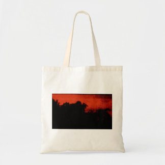 Budget Tote with Abstract Evening Sky Canvas Bag
