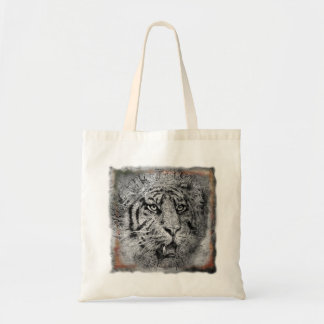 Budget Tote with beautiful Tiger Design