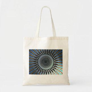 Budget Tote with blue golden mandala design Tote Bag