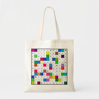 Budget Tote with Calendar Crossword