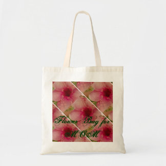 Budget Tote with Hibiscus Flowers for MOM Tote Bag