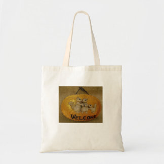 Budget Tote with Welcome Design Canvas Bags