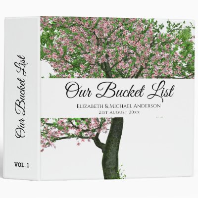 Budget Tree of Life Couples Bucket List keepsake 3 Ring Binder