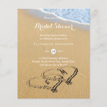 Budget Tropical Beach Hearts in Sand Bridal Shower