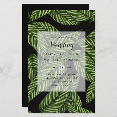 BUDGET Tropical Leaves Destination Wedding Invites