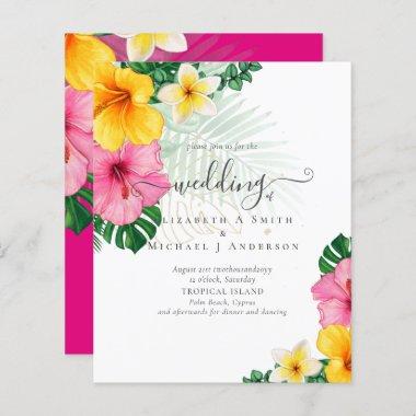 BUDGET Tropical Paradise Beach Wedding  Florals