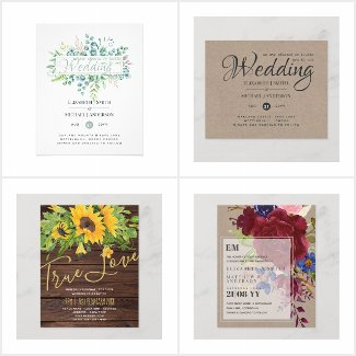 Budget Wedding Invitations / Save Dates from $0.09