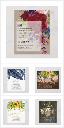 Budget Wedding Invitations/Save Dates from $0.61