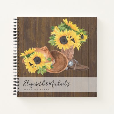Budget Wedding Planner Personalized Trendy Modern Notebook