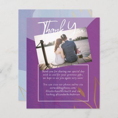 BUDGET WEDDING Purple Lilac Gold Abstract