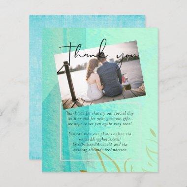 BUDGET Wedding Teal Aqua Watercolor Abstract