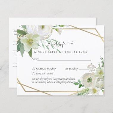 BUDGET White Rose Greenery Gold Wedding