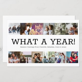BUDGET Year In Review Photo Personalized Christmas