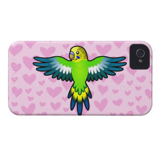 Budgie/amor del Parakeet Carcasa Para iPhone 4 De Case-Mate