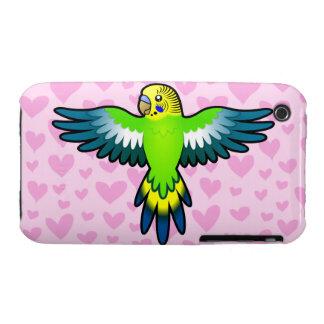 Budgie/amor del Parakeet Funda Para iPhone 3 De Case-Mate